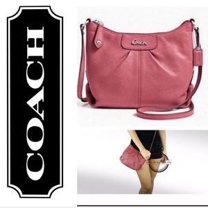 COACH women's Ashley crossbody pink bag